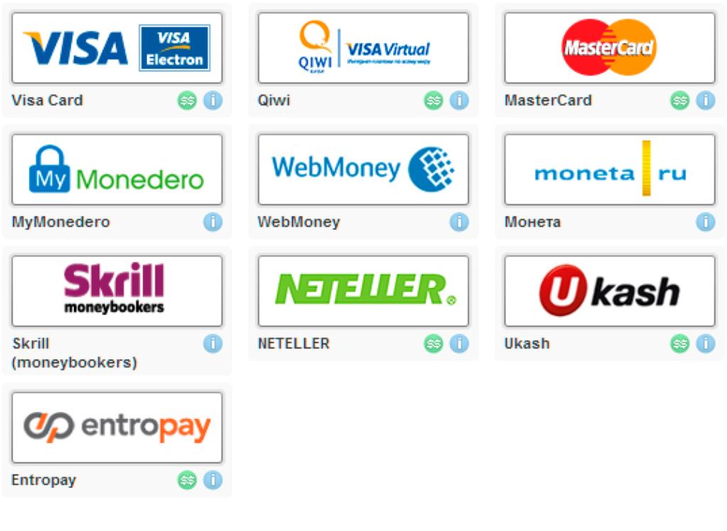 платежные системы букмекеров